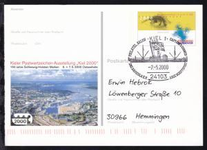 Kiel Sonderstempel KIEL 1 24103 PHILATEL. SALON CAPTAIN'S CORNER