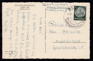 Essen Sonderstempel ESSEN a  Reichsgartenschau 1938