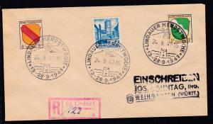 Lindau K1 LINDAUER HERBSTWOCHE 13.-28.9.1947 24.9.47 auf R-Brief nach Weingarten