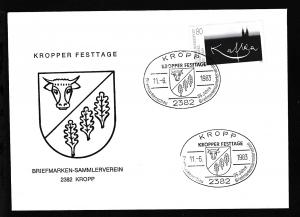 Kropp Sonderstempel KROPP KROPPER FESTTAGE BRIEFMARKENSCHAU 35 JAHRE