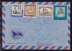HAL-Umschlag ab Tunas de Zaza 17 FEB 1958 nach Mainz, Absenderangabe MS