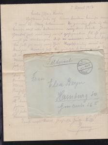 K D Feldpost … 3.4.17 auf Feldpostbrief mit Inhalt, Absenderangabe