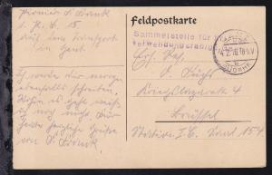 L2 Sammelstelle für Kriegs-verwendungsfähige, Gent auf Feldpostkarte