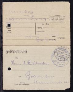K.D. Feldpoststation Nr. 253 27.5.16 + Brief-Stempel KÖNIGLICH PREUSSISCHE