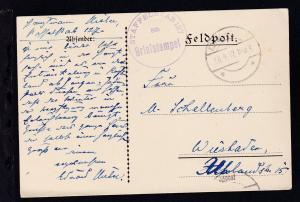 K.D. Feldpost ** 28.9.17 + K1 STAFFELSTAB 127 BRIEFSTEMPEL auf Feldpostkarte