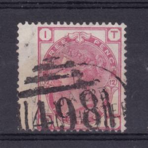Königin Viktoria 3 P. Platte 12 breite Marke