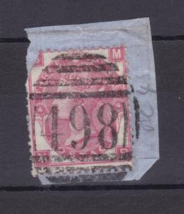 Königin Viktoria 3 P. auf Briefstück, beschädigt