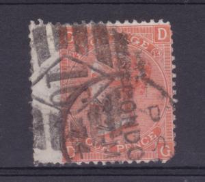 Königin Viktoria 4 P. Platte 13, breite Marke, Zahnfehler