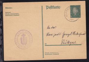 Marktlustenau K1 MARKTLUSTENAU 4 DEZ 30 auf Ganzsache als Postkarte des