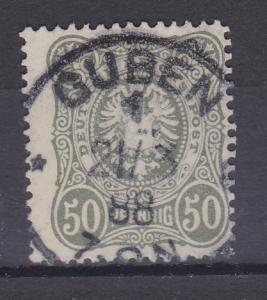 Adler 50 Pfg. mit K1 GUBEN 1 21/3 88