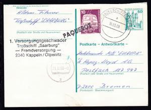 MARINESCHIFFSPOST 53 a 16.03.88 + Cachet Troßschiff