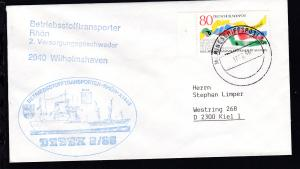 MARINESCHIFFSPOST 53 a 17.08.86 + Cachet Betriebsstofftransporter