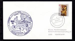 MARINESCHIFFSPOST 52 a 03.06.81 + Cachet Zerstörer 2 ÜAG 81 auf Brief