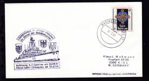 MARINESCHIFFSPOST 52 a 22.6.81 + Cachet Zerstörer 5 auf Brief