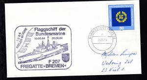 MARINESCHIFFSPOST 52 a 24.06.84 + Cachet Fregatte