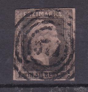 König Friedrich Wilhelm IV 1 Sgr. mit  etwas undeutl. Nummernstempel 571