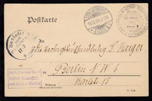 Strassburg OSt. STRASSBURG (ELSASS) 1 *n 16.12.04 auf Dienstpostkarte