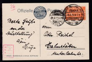 Frankfurt/Main IBANA I. Internationale Briefmarken, Ansichtskarten u.