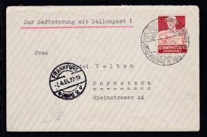 Deutsche Freiballon-Meisterschaft Darmstadt 16./17. Febr. DARMSTADT 1935