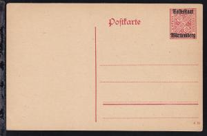 Dienstpostkarte 10 Pfg. mit Aufdruck