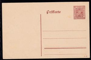 Dienstpostkarte Ziffer 5½ Pfg.