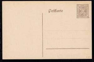 Dienstpostkarte Ziffer 3 Pfg.
