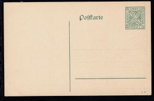 Dienstpostkarte Ziffer 5 Pfg.