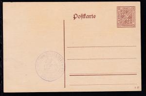Dienstpostkarte Ziffer 5½ Pfg. mit Dienststempel Bezirksnotariat Vaihingen
