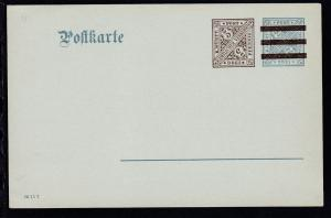 Dienstpostkarte Ziffer 3 Pfg. neben 2 Pfg.