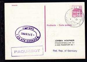 DEUTSCHE SCHIFFSPOST MS ASTOR HADAG-CRUISE-LINE KKREUZFAHRT 29.1.93 +