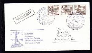 DEUTSCHE SCHIFFSPOST ms Europa Hapag-Lloyd AG PAZIFIK-KREUZFAHRTEN 03.03.85 +