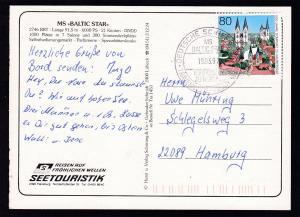 DEUTSCHE SCHIFFSPOST MS BALTIC STAR SEETOURISTIK TRAVEMÜNDE-RÖDBYHAVN 19.03.97
