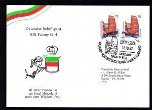 DEUTSCHE SCHIFSPOST MS FUNNY GIRL REEDEREI CASSEN EILS 40 JAHRE POSTBEFÖRDERUNG