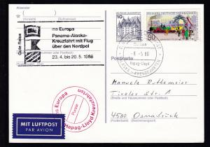 DEUTSCHE SCHIFFSPOST ms Europa Hapag-Lloyd ALASKA-KREUZFAHRTEN 10.8.82 + Cachet