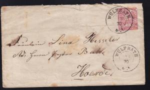 Ziffer 1 Gr. mit K2 WÜLFRATH 13.1.70 nach Hoerde, Brief rauh geöffnet