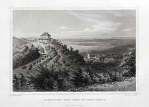 Gernrode und der Stubenberg Originaler Stahlstich um 1850