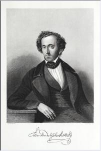 Felix Mendelssohn Bartholdy, Komponist. Originaler Stahlstich um 1850