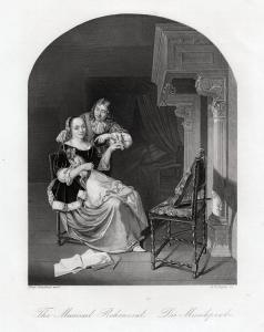 Die Musikprobe. Echter Stahlstich n. Slingeland. Erstauflage um 1850