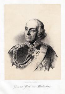 General York von Wartenberg. Lithographie um 1870