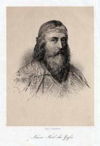 Kaiser Karl der Große. Lithographie um 1870