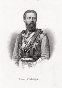 Kaiser Friedrich III. Brustbild.. Originaler Stahlstich um 1890