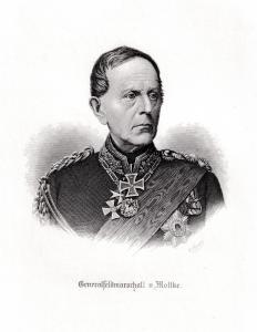 Generalfeldmarschall von Moltke. Brustbild.. Originaler Stahlstich um 1880