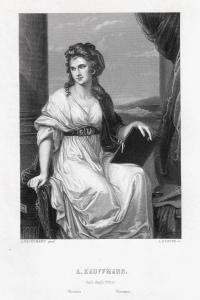 Angelika Kauffmann, Selbstporträt der Malerin. Originaler Stahlstich um 1860