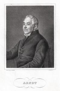 ARNDT, Ernst Moritz, deutscher Schriftsteller. Originaler Stahlstich um 1840