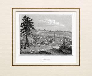 Ilmenau - Gesamtansicht Originaler Stahlstich um 1840