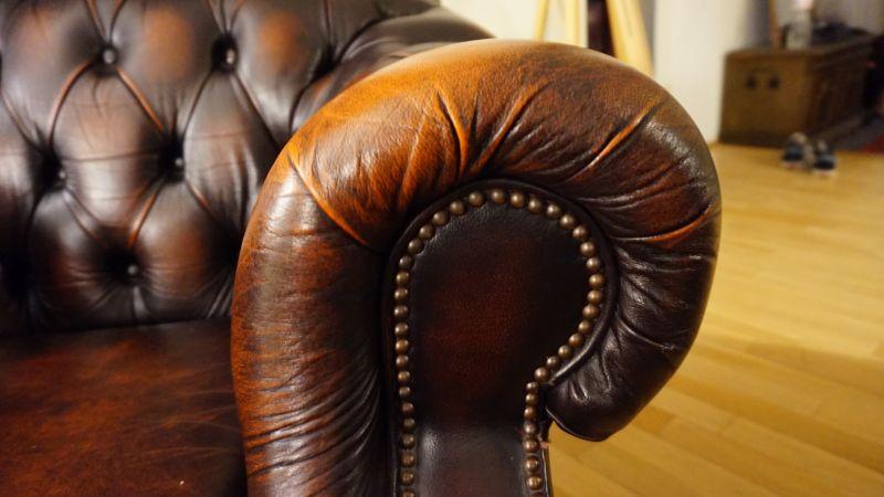 chesterfield sessel vintage ledersessel loungesessel braun. Black Bedroom Furniture Sets. Home Design Ideas