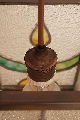 Wunderschöne original Jugendstil Deckenleuchte Flurlampe Bleiverglasung 1900 7