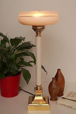 Sehr elegante Jugendstil Landhaus Tischlampe Fluter Einzelstück