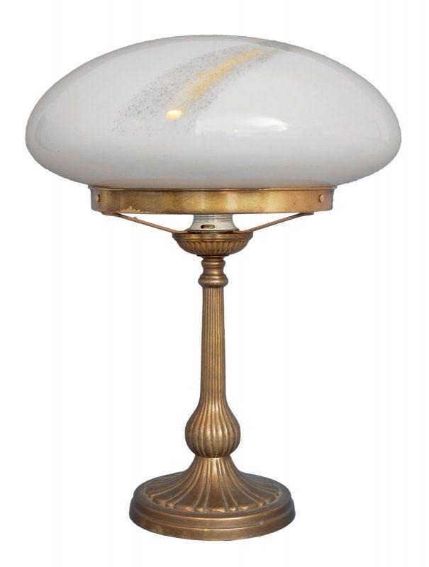 Sehr große original Jugendstil Art Déco Tischlampe Pilzleuchte Messing 1920 0
