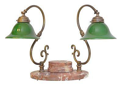 Bankerleuchte Einzigartige original Jugendstil Schreibtischleuchte um 1920 Lampe 0